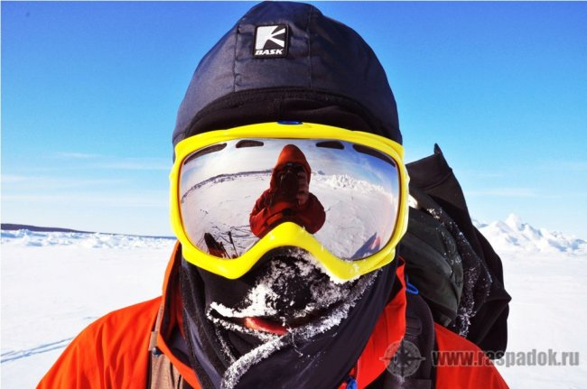 Как обойти полуостров Шмидта зимой на лыжах по льду